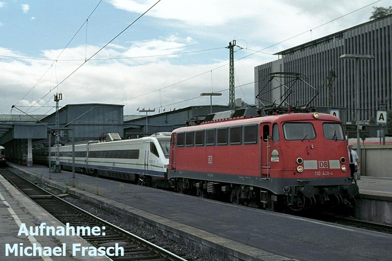 110 426 mit Cisalpino Baureihe ETR 470 (September 2005)