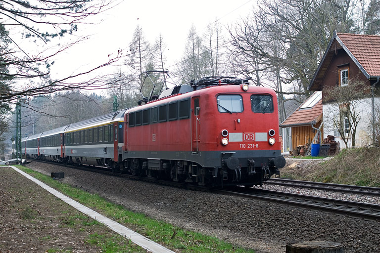 110 231 mit IC 280 bei km 18,2 (April 2010)