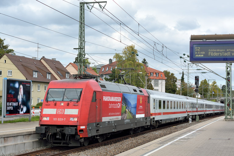 101 029 mit IC 2541 bei km 15,6 (September 2014)
