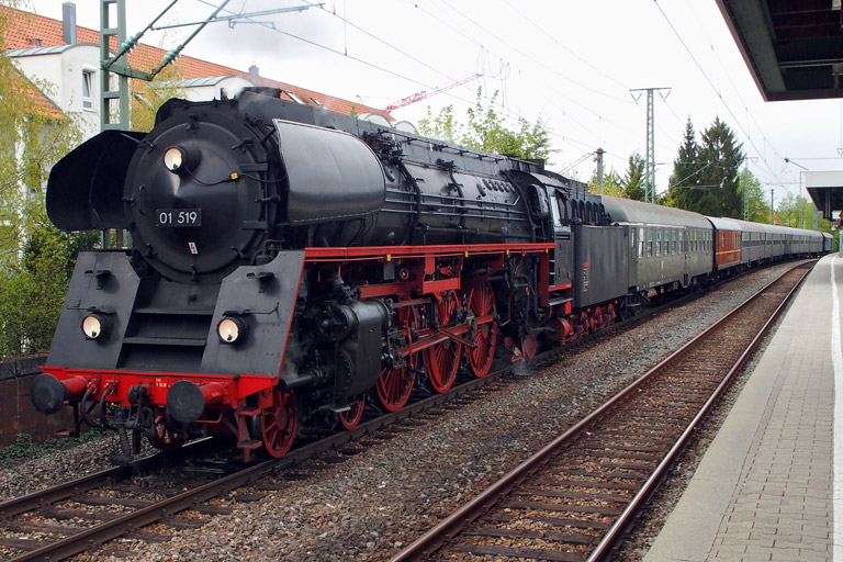 01 519 in Stuttgart-Rohr (April 2016)