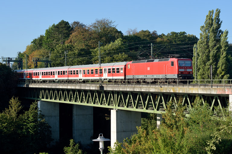 143 176 mit RE 19074 bei km 14,6 (September 2016)