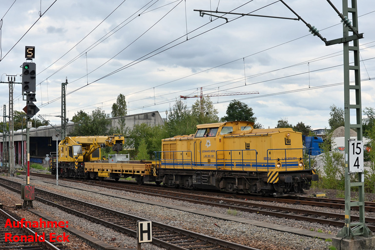 LW 203.001 (ex-DR 202 390) bei km 15,4 (August 2017)